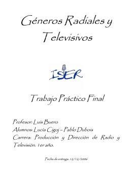 Géneros Radiales y Televisivos