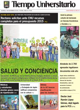 SALUD Y CONCIENCIA - Universidad de Carabobo