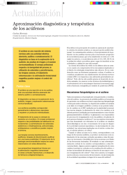 Actualización Aproximación diagnóstica y terapéutica de los acúfenos
