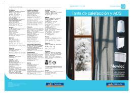 Tarifa de calefacción y ACS