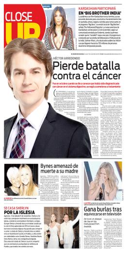contra el cáncer - El Diario de Coahuila