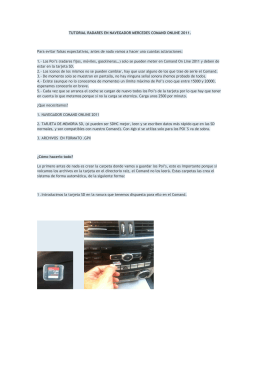 TUTORIAL RADARES EN NAVEGADOR MERCEDES COMAND