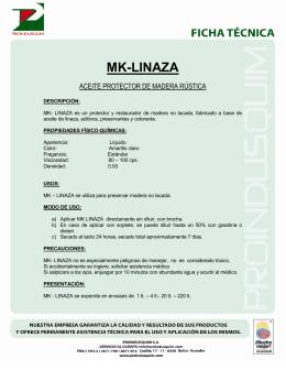 MK-LINAZA - Proindusquim