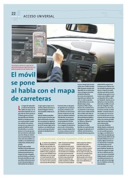 El móvil se pone al habla con el mapa de carreteras