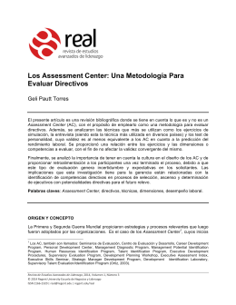 Los Assessment Center: Una Metodología Para