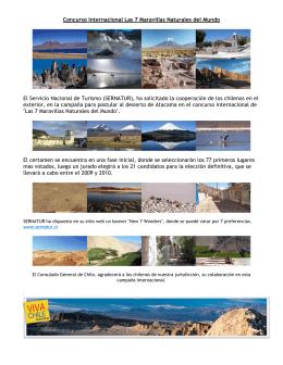 Concurso Internacional Las 7 Maravillas Naturales del Mundo El