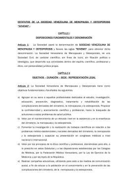 ESTATUTOS DE LA SOCIEDAD VENEZOLANA DE MENOPAUSIA