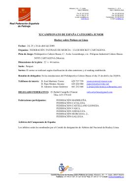1 BASES JUNIOR 2009 - Real Federación Española de Patinaje