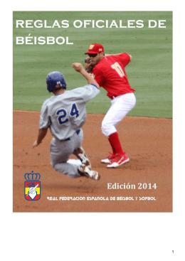 Reglas oficiales Beisbol 2014 - Federación de Béisbol y Sófbol del