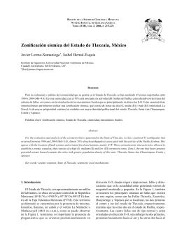 Zonificación sísmica del Estado de Tlaxcala, México