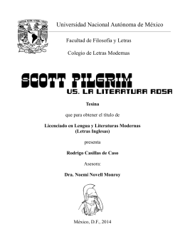 TESIS: SCOTT PILGRIM VS. LA LITERATURA ROSA