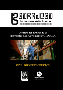 CATALOGO DE PRODUCTOS Distribuidor autorizado de