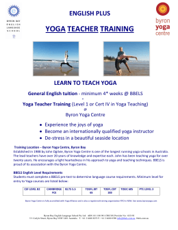 BBELS English Plus Yoga Teacher Training 2012