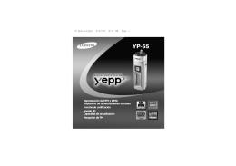 Yepp YP-55 - Guía del Usuario