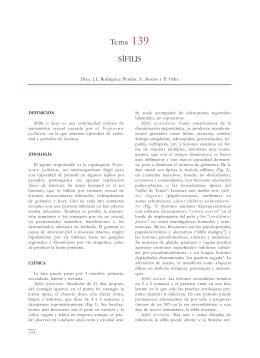 Tema 139 SÍFILIS