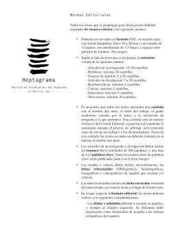 Normas Editoriales - Coordinación de Estudios de Posgrado | UNAM