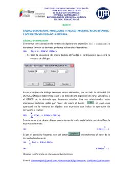cálculo de derivadas e interpretación