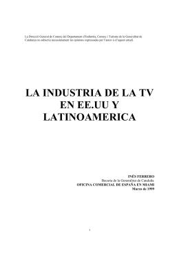 Ferrero – La Tv en Estados Unidos y Latinoamérica