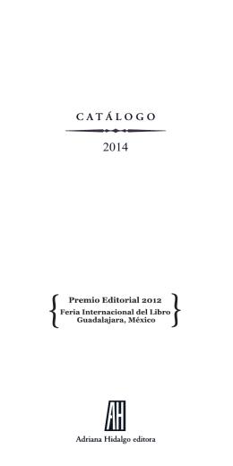 Ver catálogo  - Adriana Hidalgo Editora