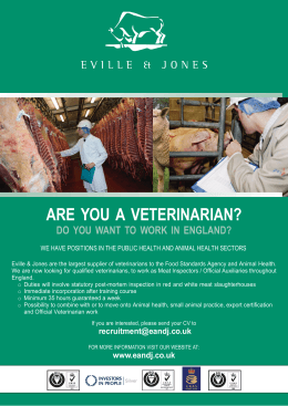 are you a veterinarian? do you want to work in england?