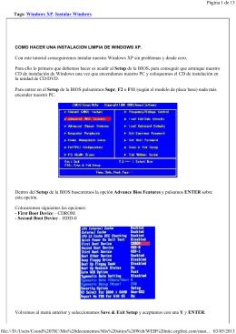 Cómo instalar Windows XP desde cero