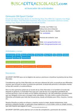 Gimnasio GN Sport Center - BuscaExtraEscolares.com