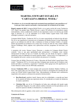 martha stewart estará en `cartagena bridal week®`