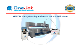 GANTRY Waterjet cutting machine technical specifications