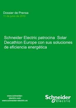 Schneider Electric patrocina Solar Decathlon Europe