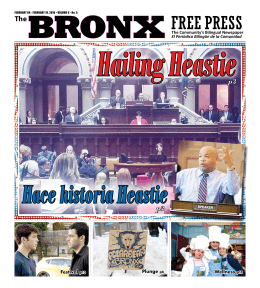 Hailing Heastie - The Bronx Free Press