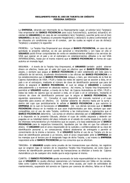 Contratos TDC PJ - Banco Pichincha