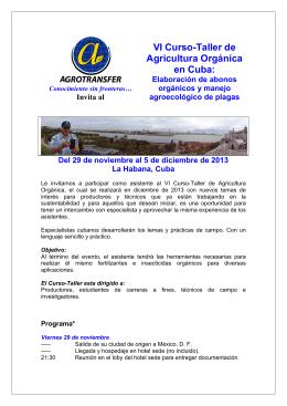 PROMOCIoN Curso A_ Organico en Cuba