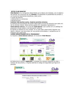 Instrucciones para el uso del Site - club