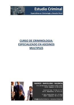 curso de criminologia: especializado en asesinos