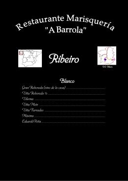 Carta VinosCarta Vinos - Restaurante A Barrola