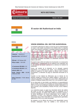 El sector del Audiovisual en India