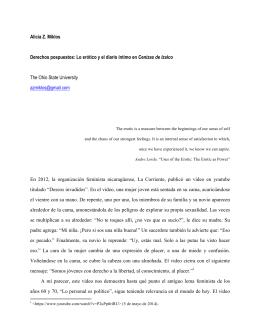Alicia Z. Miklos Derechos pospuestos: Lo erótico y el diario íntimo
