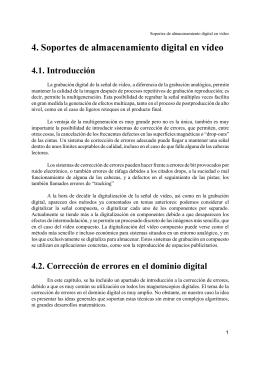 Tema 4.- Soportes de almacenamiento digital en vídeo