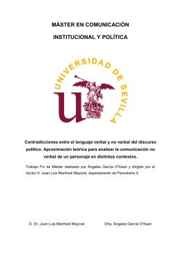 máster en comunicación institucional y política