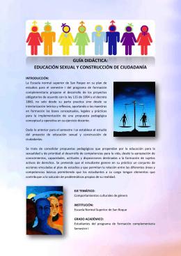 GUÍA DIDÁCTICA: EDUCACIÓN SEXUAL Y
