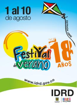 Programacion Festival de Verano
