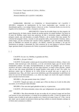 La Celestina. Tragicomedia de Calisto y Melibea Fernando de