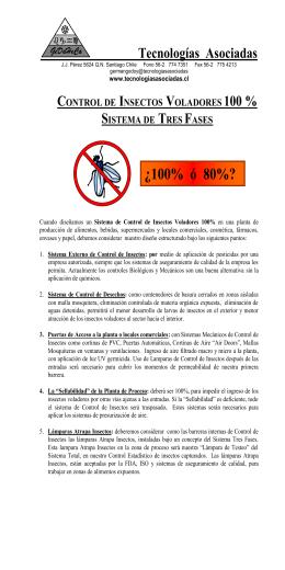 Control de Moscas - TECNOLOGIAS ASOCIADAS