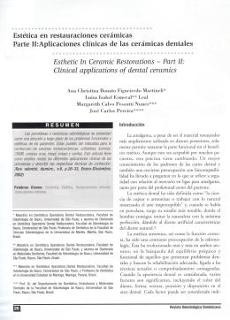 Estética en restauraciones cerámicas Parte II:Aplicaciones clínicas