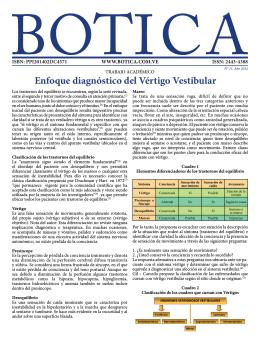 3.- Enfoque Diagnóstico del Vértigo Vestibular