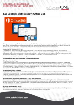 Las ventajas deMicrosoft Office 365