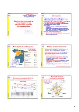 Recomendaciones para la mecanización de las explotaciones