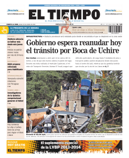 Gobierno espera reanudar hoy el tránsito por Boca de Uchire