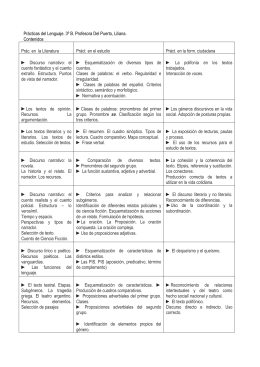 Prácticas del Lenguaje – 3°B