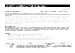 GEOGRAFÍA GENERAL Y DE VENEZUELA